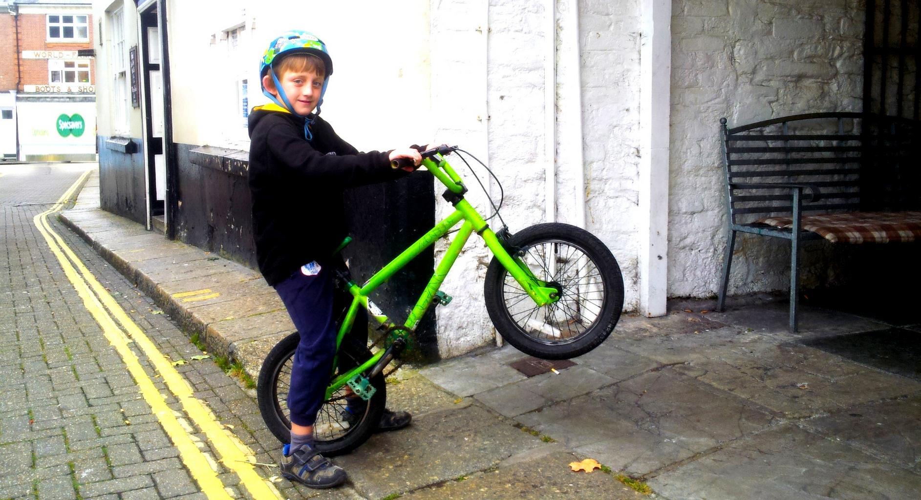 První jízda na kole
