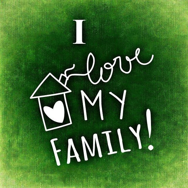 miluji svou rodinu