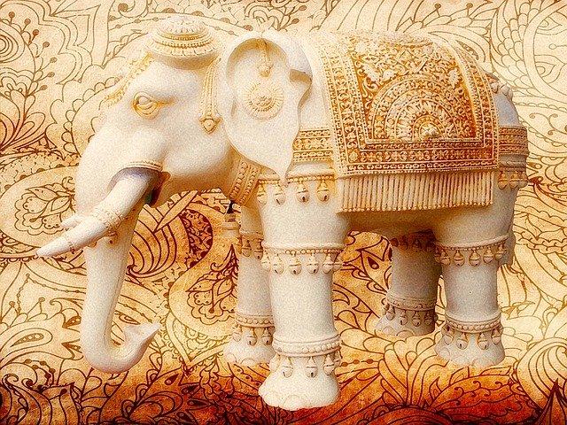 namalovaný slon