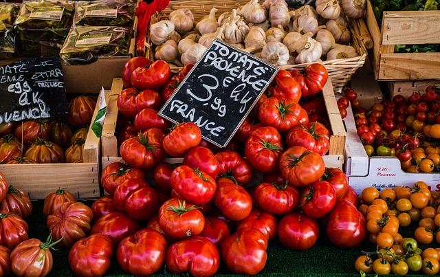 trh s potravinami